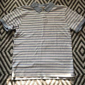 mens LL Bean polo collared shirt size medium
